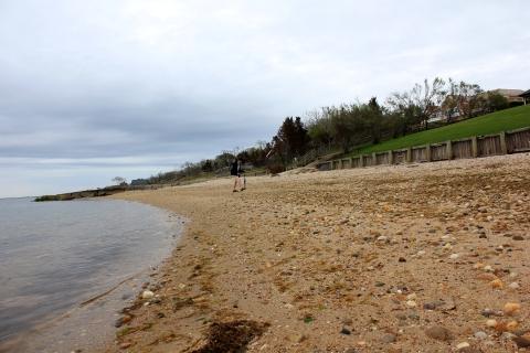 Where land meeds water in Montauk